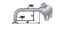 Преобразователи термоэлектрические на основе КТМС в защитной арматуре модель 115
