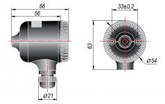 Конструктивное исполнение пластмассовой головки под НПТ-3