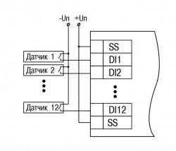 Схема подключения датчиков сухие контакты