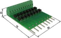 ПДИ5-8. Платы подключения к дискретным входам ОВЕН ПЛК100, ПЛК150, ПЛК154 уровней TTL (0–5 В)