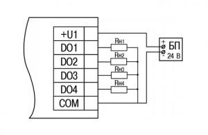 Схема подключения МУ210-410