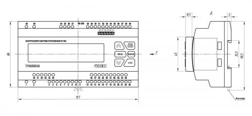 Габаритные и установочные размеры ТРМ232М