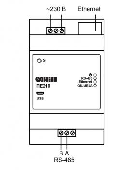 Схема подключения ПЕ210