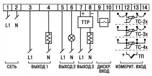 Схемы подключения ТРМ500