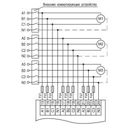МВ210-221 схема подключения трехфазные цепи