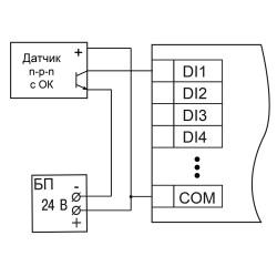 МВ210-204 схема подключения контактные датчики