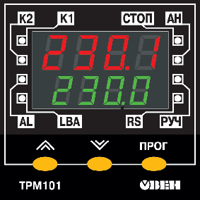 Элементы управления и индикации ТРМ101