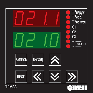 Элементы управления ОВЕН ТРМ33