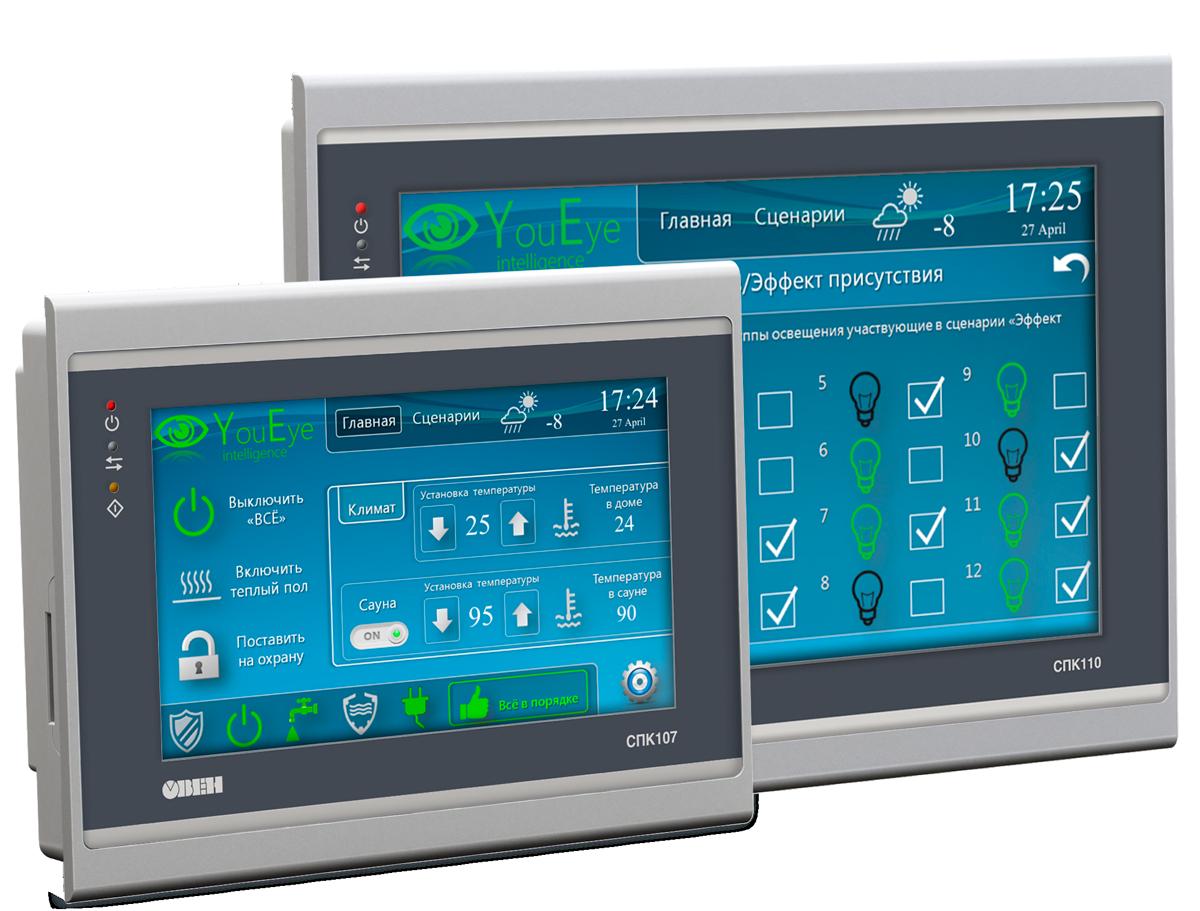 СПК1хх сенсорные панельные контроллеры с Ethernet