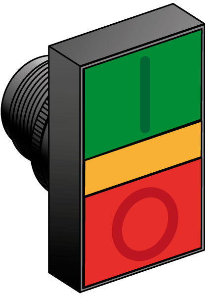 Кнопка управления с двойным толкателем, с функцией подсветки серия MTB2-E