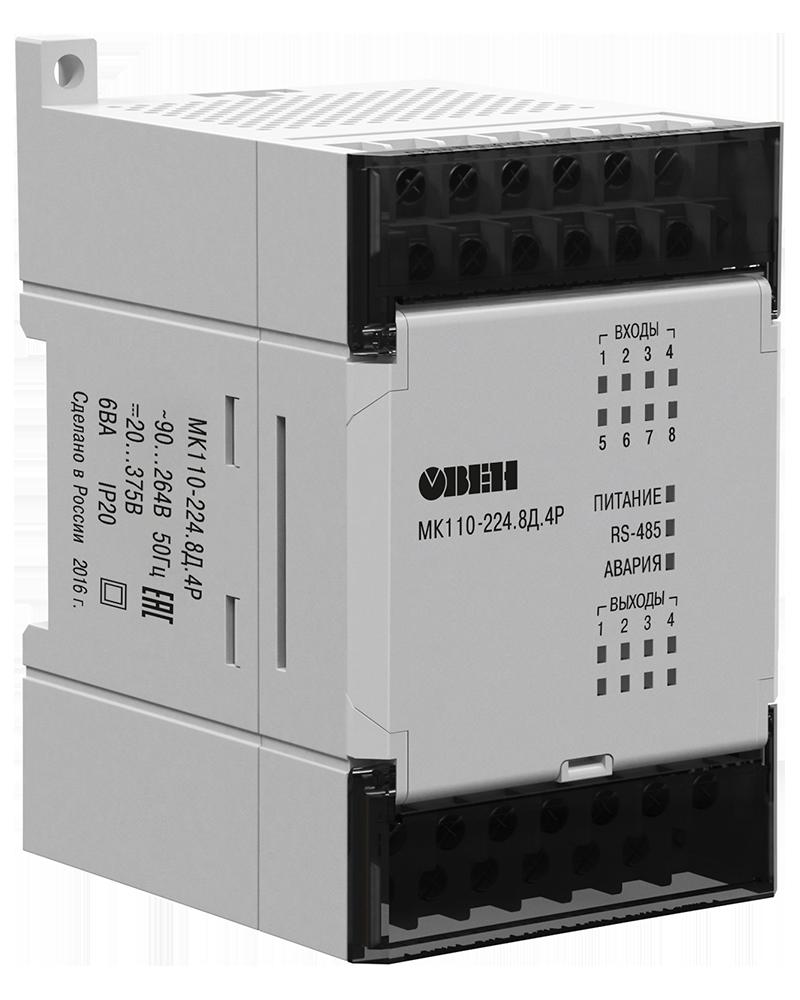 Модуль ввода-вывода дискретных сигналов МК110-8ДН.4Р