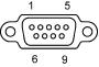 COM1/COM2 (DB9M)