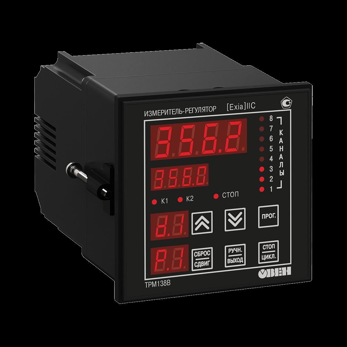 ТРМ138В восьмиканальный регулятор для взрывоопасных зон с RS-485