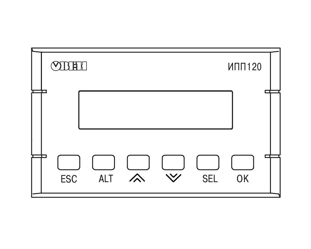 Элементы индикации и управления ИПП120